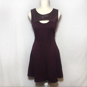 Bailey 44 maroon dress leather accents